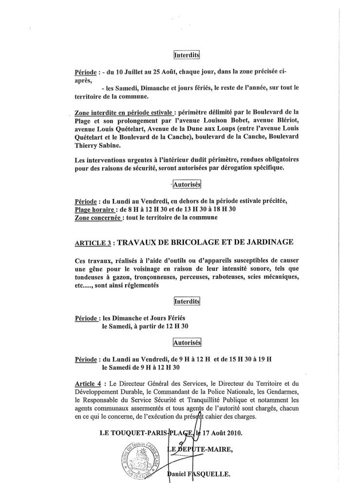 BRUIT_Arrêté PAGE 2 2010